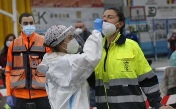 Cribado masivo de test de antígenos en Palencia.