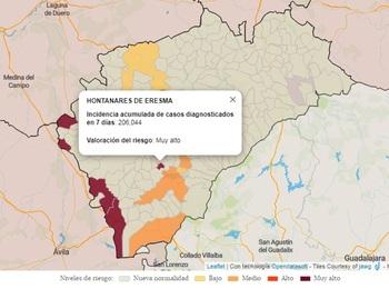 Declarado un brote de coronavirus en Hontanares de Eresma
