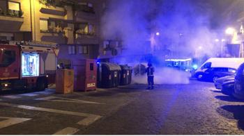 Arde un nuevo contenedor en Segovia (vídeo)