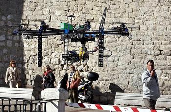 Policía Nacional de León vigila el vuelo de drones de Burgos
