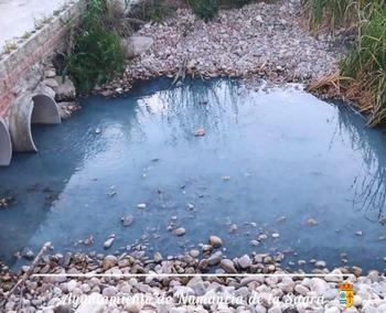 Numancia denuncia el vertido de químicos en un arroyo