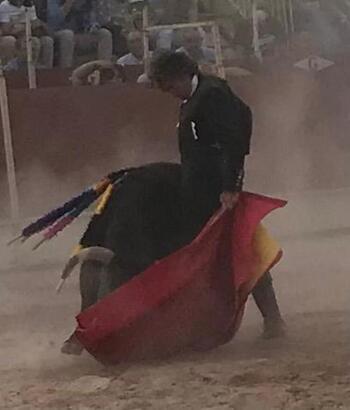 Rubén Sanz corta dos orejas en  Villanueva del Rosario