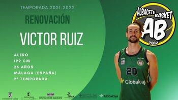 Víctor Ruiz continuará en el Albacete Basket