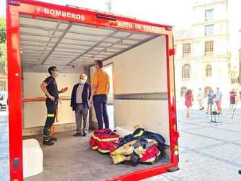 Primer vehículo eléctrico para los bomberos de Toledo