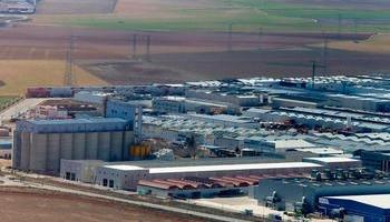 Vista aérea del Polígono Industrial de Romica, que acogerá la planta de laminado.