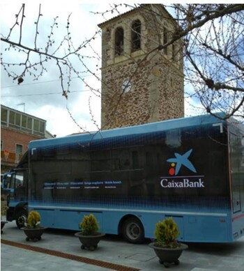 Caixabank presta servicio móvil en 91 municipios de Segovia