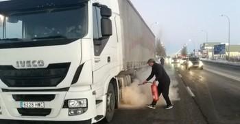 Conato de fuego de un camión a la altura del Lidl