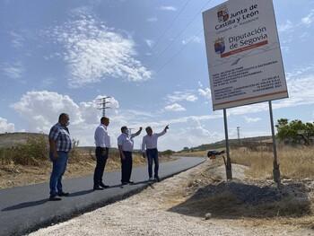 Obras en la carretera entre Fuentesoto y Sacramenia