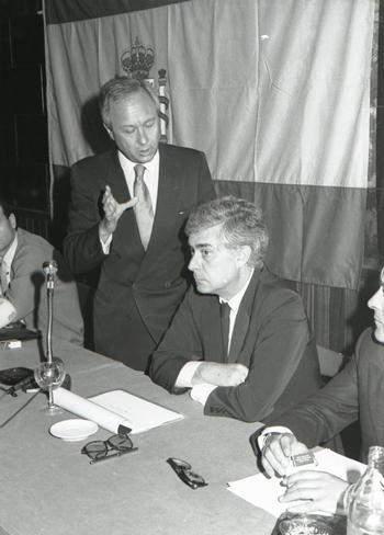 Blas Camacho con Rupérez en los años 70