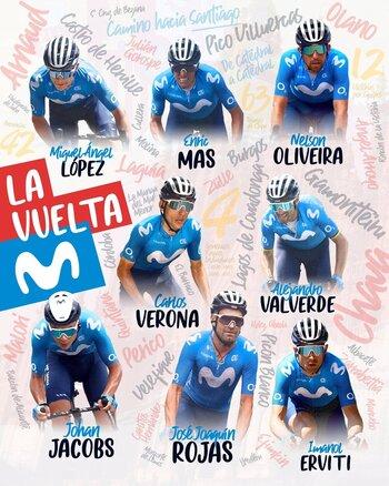 Valverde, Mas y López liderarán al Movistar en La Vuelta