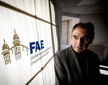 Miguel Ángel Benavente, en la sede de FAE.