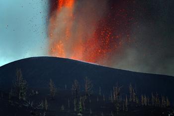 La lava se extiende por 166 hectáreas y destruye 350 inmuebles