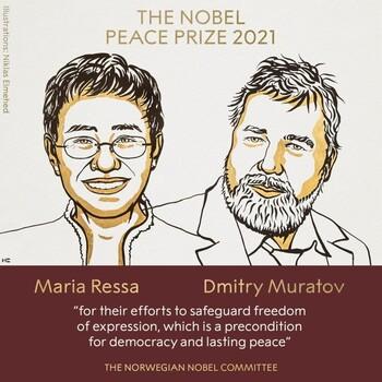 Los periodistas María Ressa y Dmitry Muratov, Nobel de la Paz
