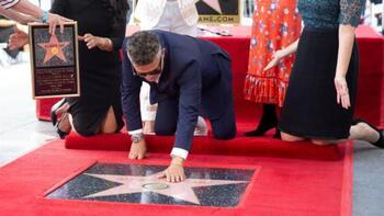 Alejandro Sanz ya tiene su estrella en el Paseo de la Fama