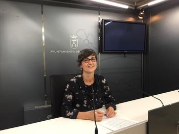La concejal Carmen Fajardo.