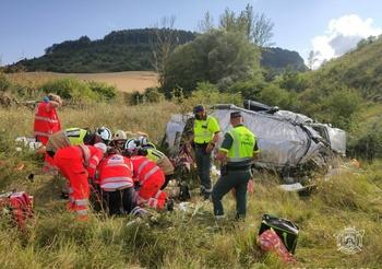 Viernes accidentado en la AP-1 con cuatro personas heridas