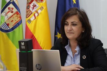 La presidenta ha intervenida de forma telemática en una reunión del Comité de las Regiones.