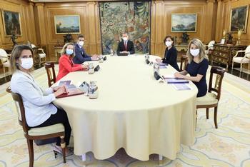 Sánchez presenta a Felipe VI el plan de Recuperación