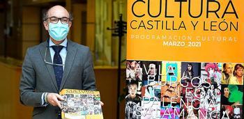 Javier Ortega, durante la presentación de la programación de la red de centros culturales de la Consejería.