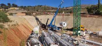 El túnel de la depuradora, en marcha