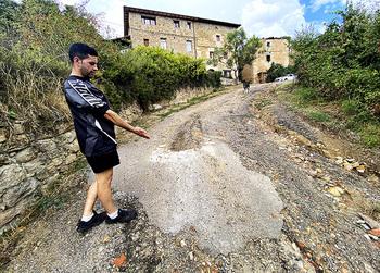 La lluvia deja 57 litros en Oña y daña un acceso a Tamayo