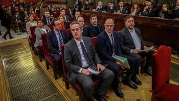 El TC avala la condena por sedición en el juicio del procés