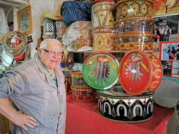 Una colección de tambores une Tobarra con México