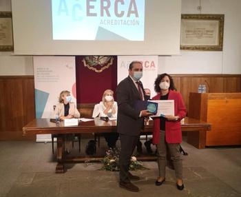 Reconocimiento al Mancha Centro por consultas ERCA