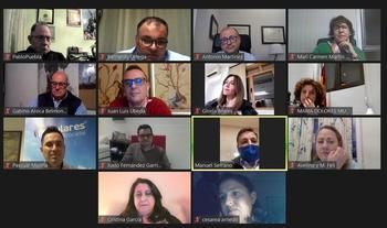 Un momento de la reunión virtual celebrada por los populares con motivo del Día de la Mujer.