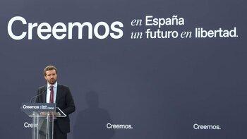 Casado: 'Sánchez dice una cosa en Europa y otra en España'