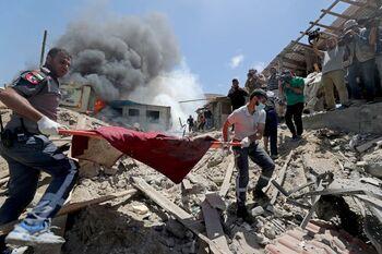 Aumentan a 200 los palestinos muertos en Gaza