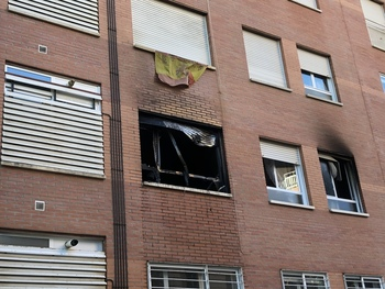 Incendio en un piso del barrio de La Albuera
