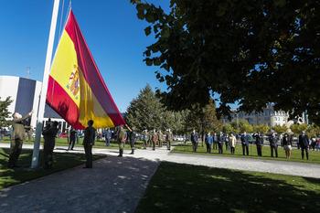 León se suma al homenaje a la bandera de España