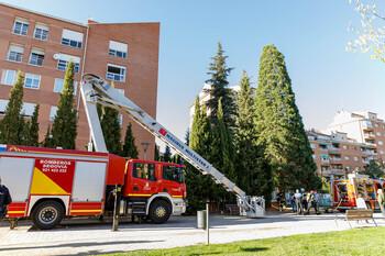 Cinco personas heridas en el incendio de La Albuera