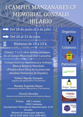 El Manzanares organiza el I Memorial Gonzalo Hilario