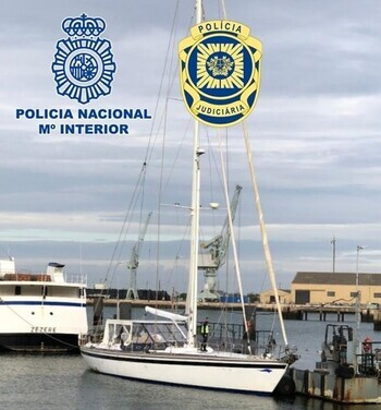La Policía interviene un velero con 5.200 kilos de cocaína