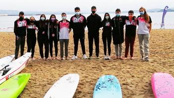 Los once representantes del Unión Esgueva SOSVA en la primera jornada de la Copa de España de Playa.