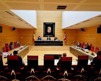 Reunión de la mesa de portavoces en las Cortes de Castilla y León.