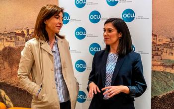 Ileana Izverniceanu e Itzíar Fernández de la Cruz han presentado hoy la nueva delegación de la OCU en la región.