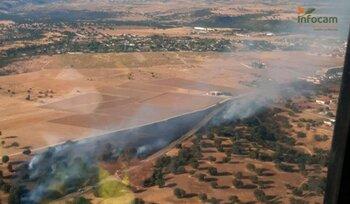 Extinguido el incendio forestal de Escalona
