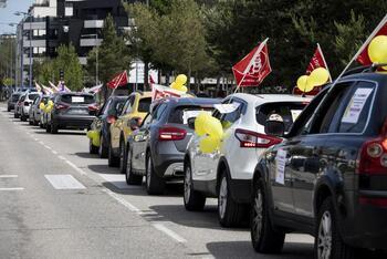 Protestas de los trabajadores de Correos por el centro