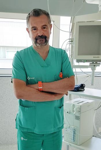 El anestesista que se hará cargo del servicio, Juan Manuel de Vicente.