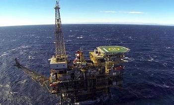 Imagen de la plataforma petrolífera Casablanca que la multinacional española Repsol tiene en aguas de Tarragona.