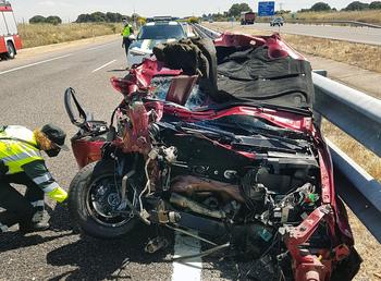 Imagen de un accidente registrado en el último mes en Salamanca.