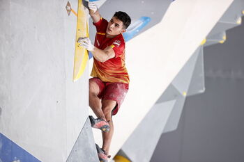 Aberto Ginés logra el primer oro olímpico en escalada