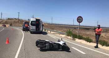 Herido grave un motorista en un accidente en Corella