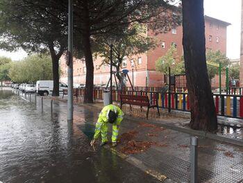 El Consistorio trabaja para minimizar el efecto de la lluvia