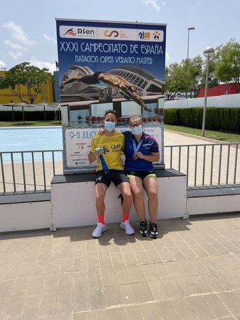 Cuatro medallas para el Club Natación Soriano en Valencia