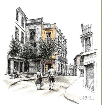 Ángel Malo Ocaña expone sus dibujos en el Centro San José