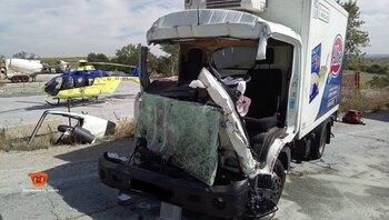 Un joven de 25 años, herido en un accidente en Casarrubios